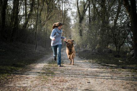 Hund und Frauchen Foto