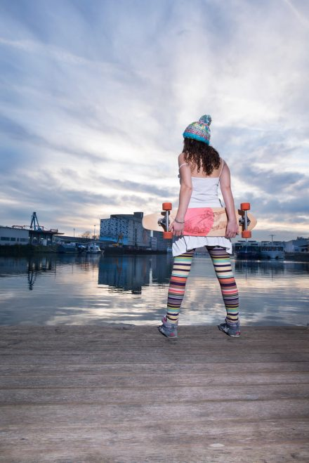 Foto Skateboard Girl Dawn Hafen Linz