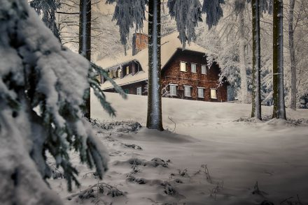 Foto Haus Breitenstein im Schnee