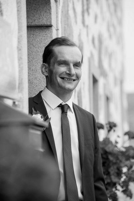 Hochzeitsfotografie Portrait schwarz weiß