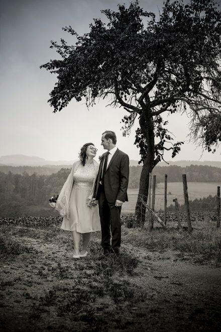 Hochzeitsfotografie schwarz weiß
