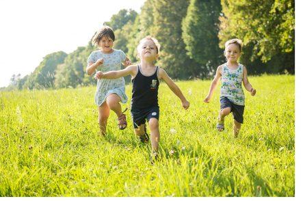 Kinder in der Wiese