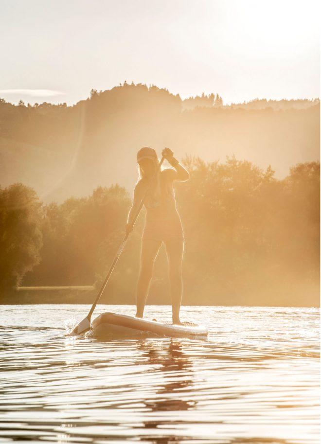 SUP auf der Donau