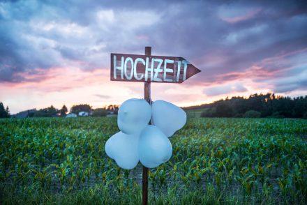 Fotografie Hochzeit mit Sonnenuntergang