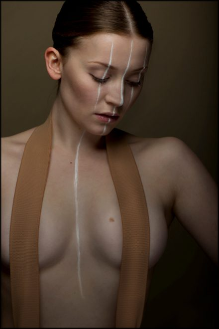 Fotografie Modelshooting Fashion White Stripes