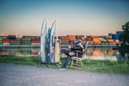 Fotografie Surfbrett Hafen Linz