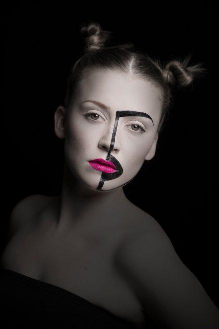 Fotografie Modelshooting Fashion Half Face