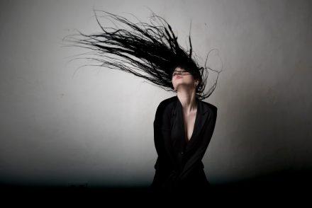 Foto nasse Haare