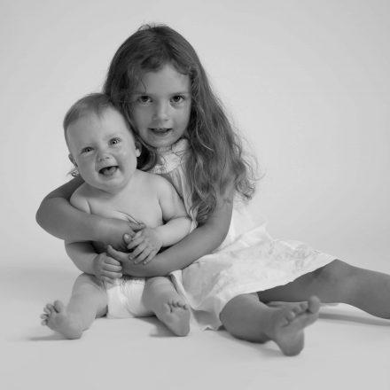 Kinderfotografie schwarz/weiß